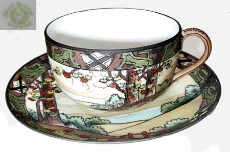 湖水飾りティーカップ